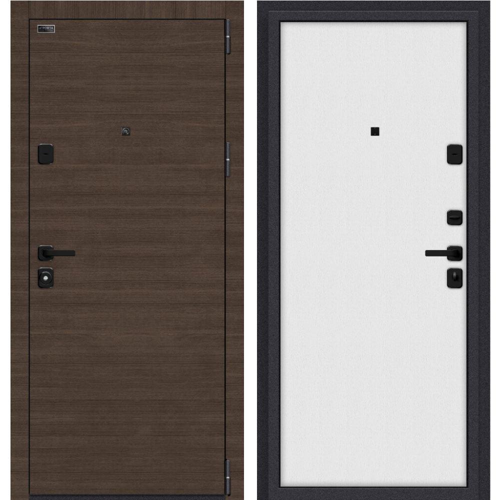 """Входные двери с внутренней панелью в цвете """"белый""""."""